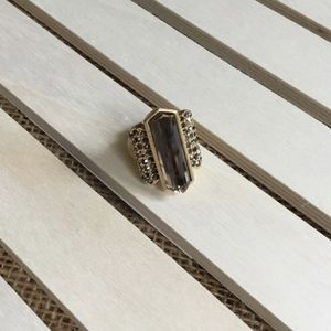 Chocolate Brown / Gold Statement Ring
